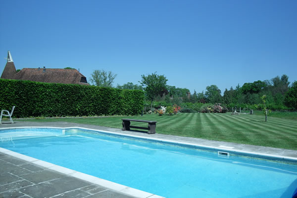 Heated Swimming Pool at Cloth Hall Oast Bed and Breakfast Cranbrook ...